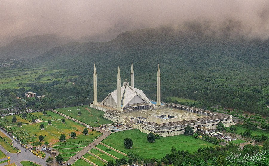 Arial view of Faisal Mosque