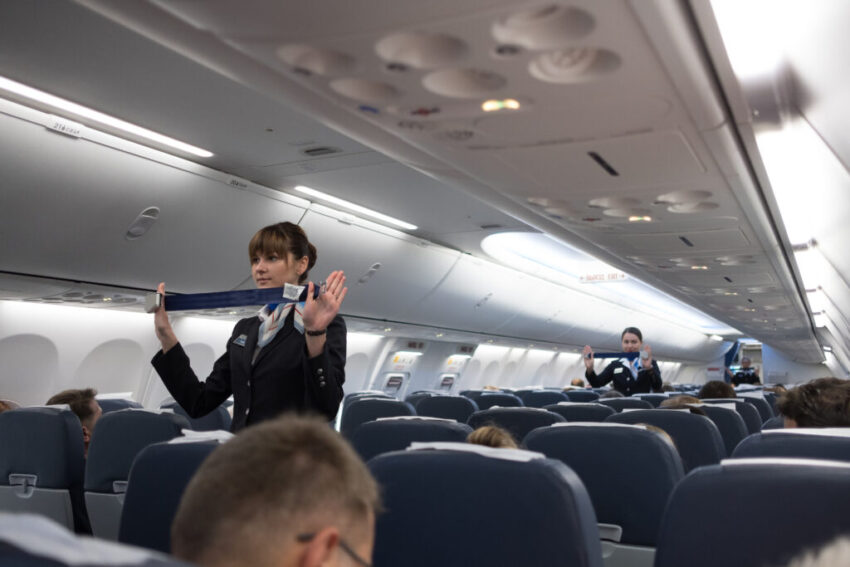 plane safety announcement